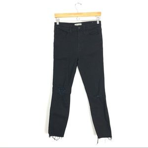 """Madewell 10"""" High Rise Skinny Jeans Distressed A0"""